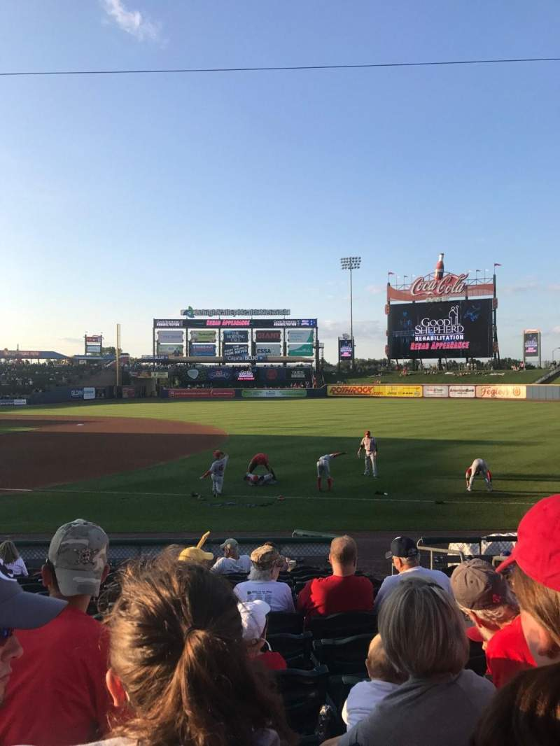 Seating view for Coca-Cola Park Section 105 Row M Seat 18