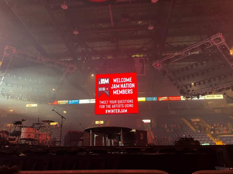 Seating view for Santander Arena Section Floor Row 2