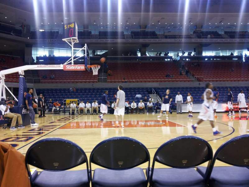 Seating view for Auburn Arena Section G Row 1