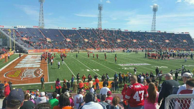 Seating view for Ladd Peebles Stadium Section J Row 22 Seat 01