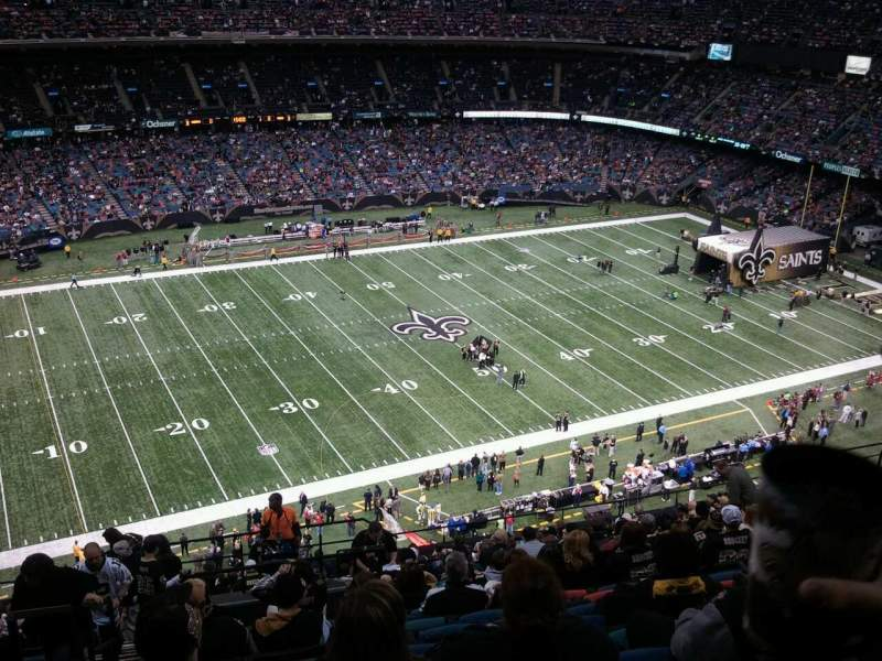 Seating view for Mercedes-Benz Superdome Section 643 Row 22 Seat 21