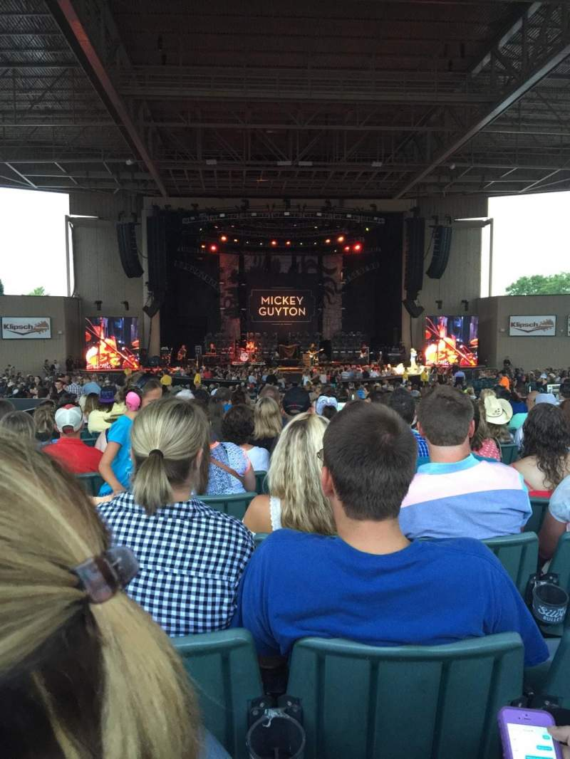 Seating view for Klipsch Music Center Section F Row T Seat 10