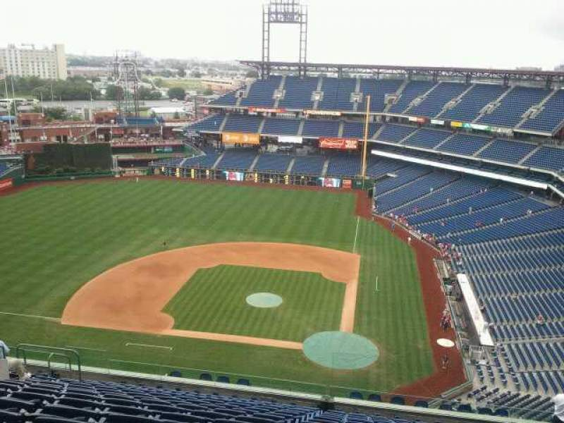 Seating view for Citizens Bank Park Section 426 Row 16 Seat 12
