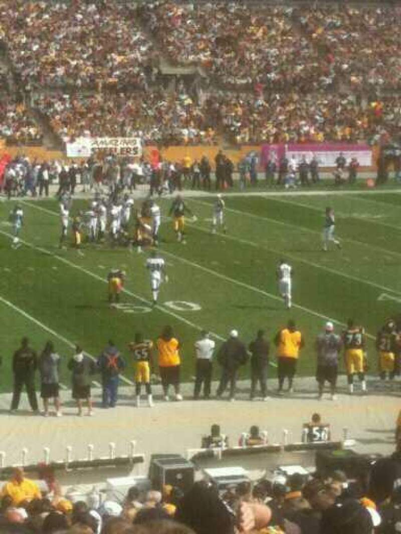 Seating view for Heinz Field Section 133 Row BB Seat 11