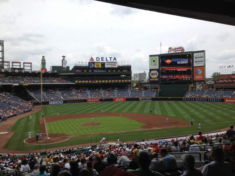 Seating view for Turner Field Section 205 Row 13 Seat 2