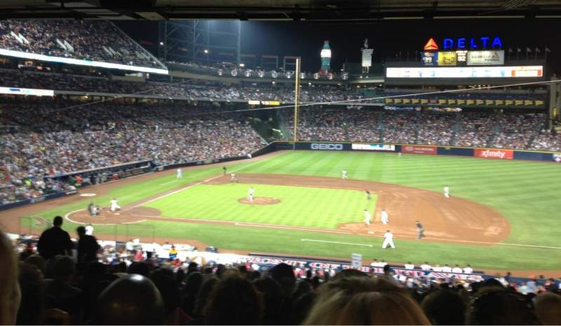 Seating view for Turner field Section 211 Row 16 Seat 12