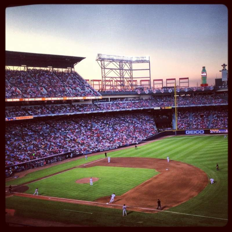 Seating view for Turner Field Section 317L Row 9 Seat 102
