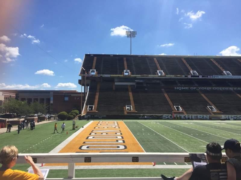 M. M. Roberts Stadium, section: H, row: 14, seat: 15
