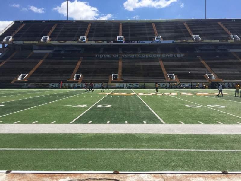 M. M. Roberts Stadium, section: E, row: 2, seat: 5