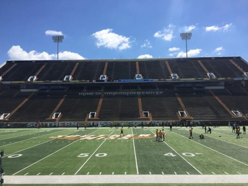 M. M. Roberts Stadium, section: E, row: 11, seat: 20
