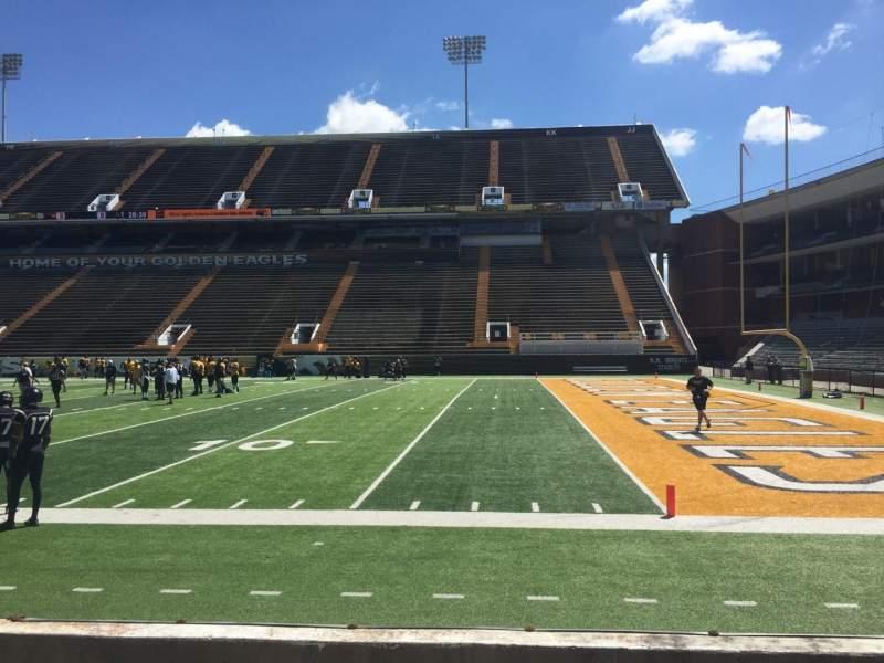 M. M. Roberts Stadium, section: B, row: 4, seat: 1