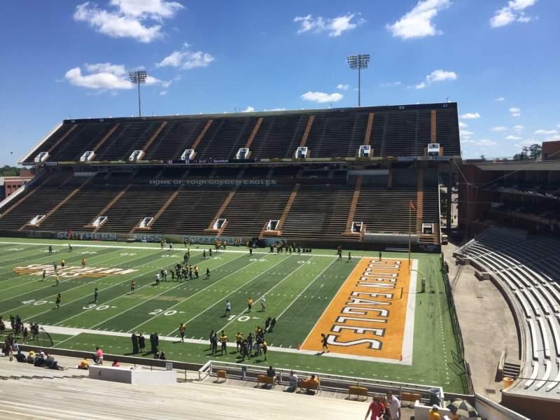 M. M. Roberts Stadium, section: A, row: 50, seat: 1