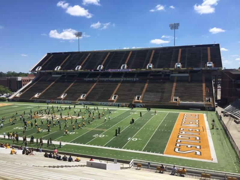 M. M. Roberts Stadium, section: B, row: 50, seat: 25