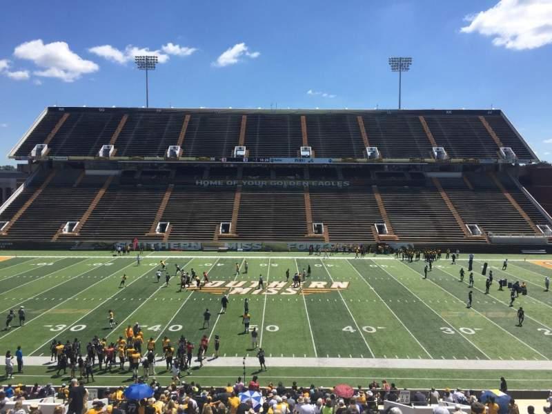 M. M. Roberts Stadium, section: E, row: 43, seat: 14