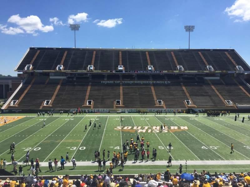 M. M. Roberts Stadium, section: F, row: 43, seat: 9