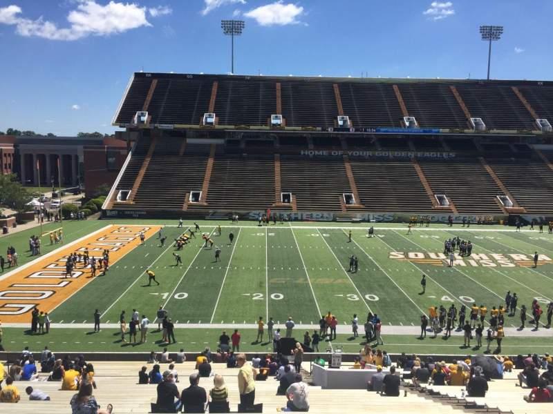 M. M. Roberts Stadium, section: G, row: 43, seat: 11