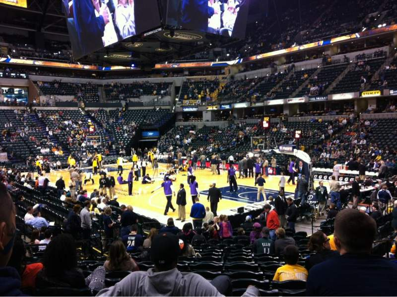 Seating view for Bankers Life Fieldhouse Section 13 Row 19 Seat 5