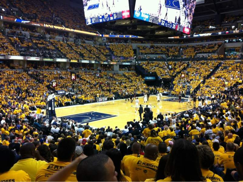 Seating view for Bankers Life Fieldhouse Section 8 Row 21 Seat 2