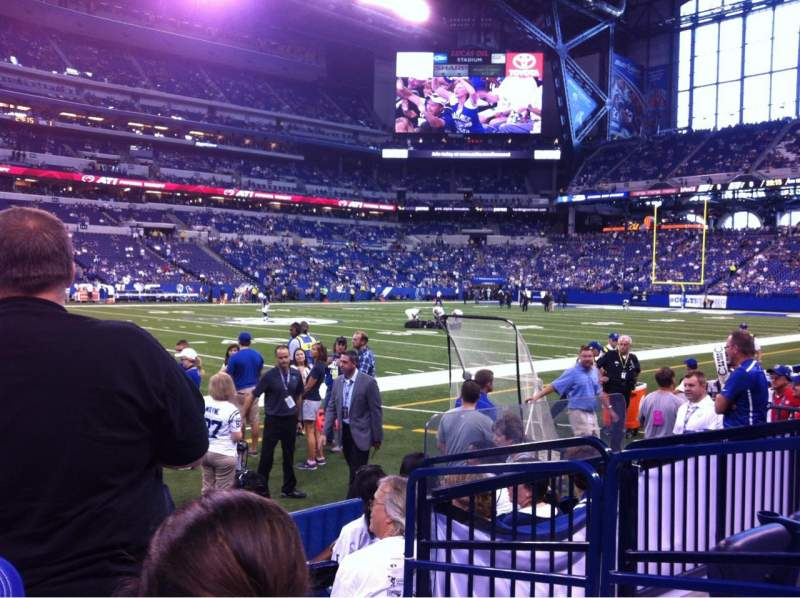 Seating view for Lucas Oil Stadium Section 116 Row 3 Seat 2