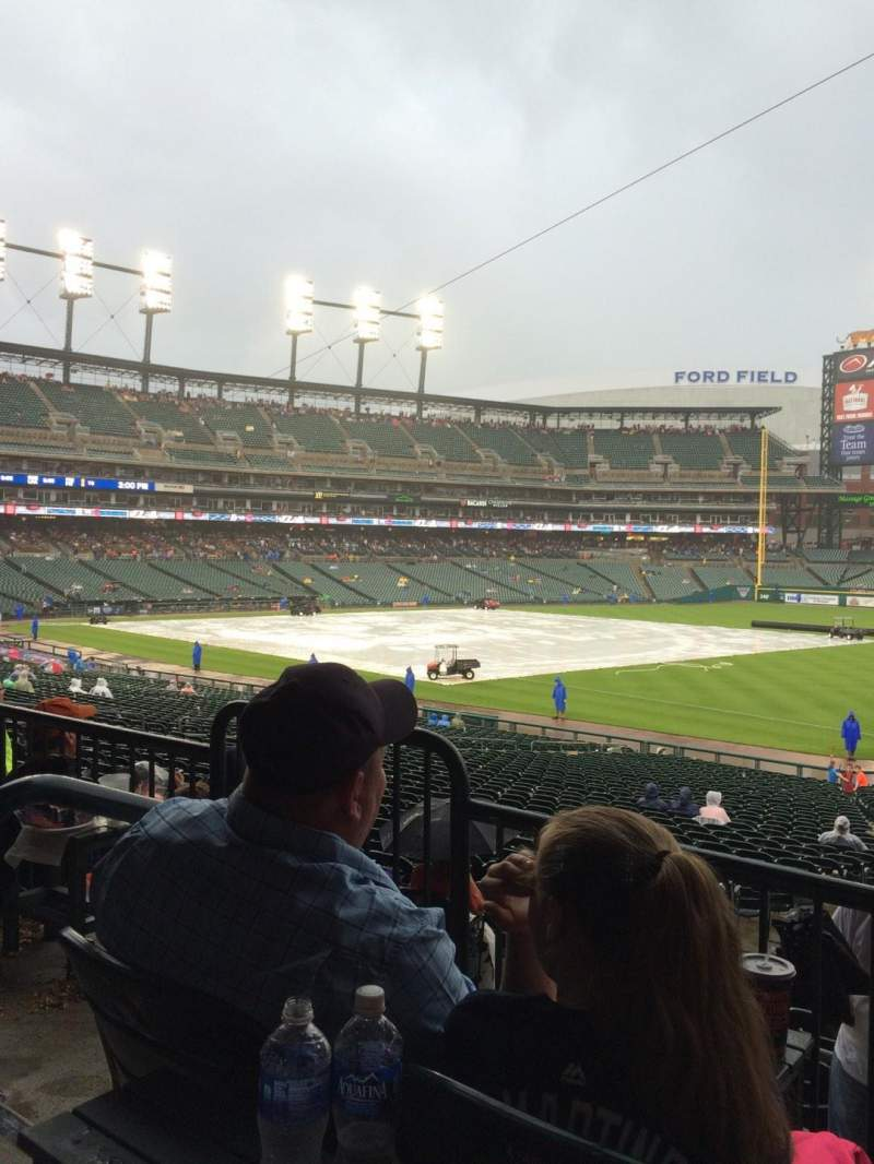 Seating view for Comerica Park Section 116 Row B Seat 5