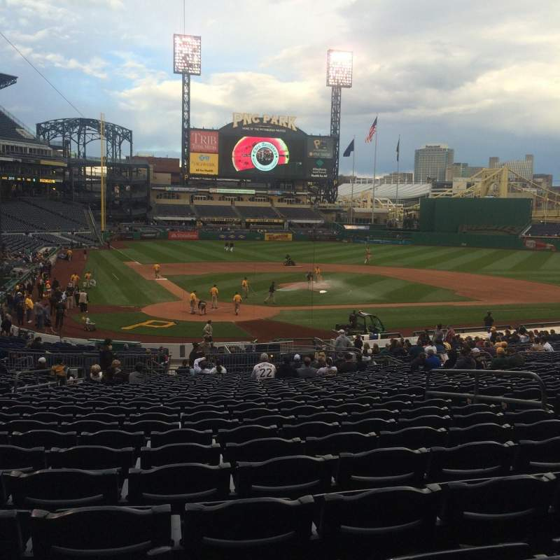 Seating view for PNC Park Section 114 Row Z Seat 27