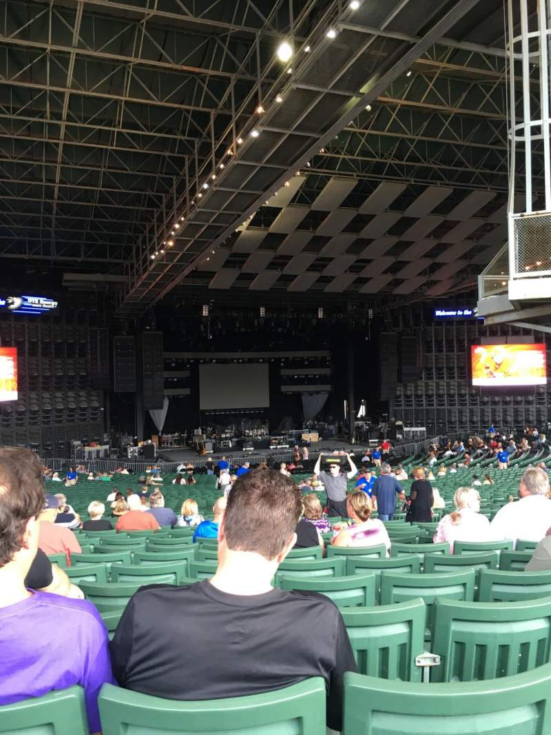 Seating view for DTE Energy Music Theater Section LTC9 Row SS Seat 8