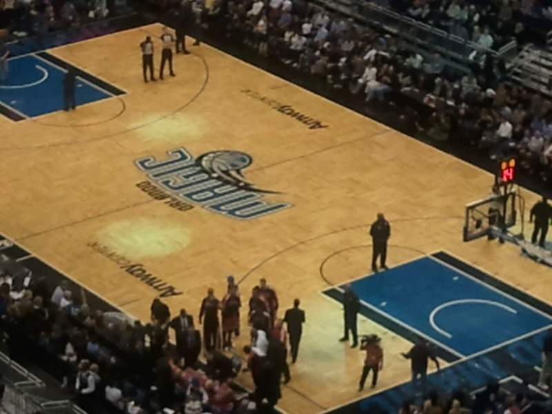 Seating view for Amway Center Section 204 Row 13 Seat 19