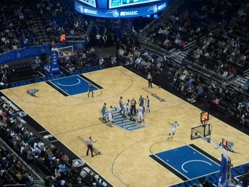 Seating view for Amway Center Section 206 Row 6 Seat 8
