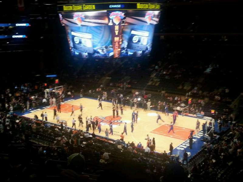 Seating view for Madison Square Garden Section 214 Row 8 Seat 3