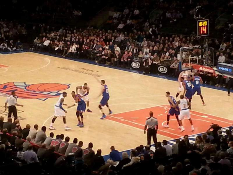Seating view for Madison Square Garden Section 110 Row 21 Seat 13