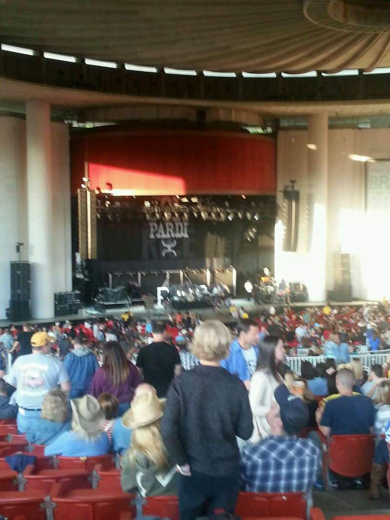 Seating view for Pnc Bank Arts Center Section 304 Row T Seat 11