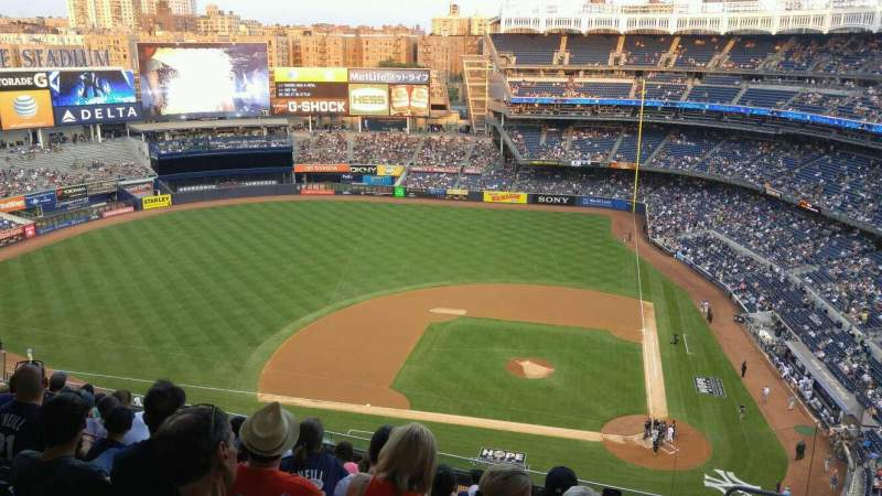 Seating view for Yankee Stadium Section 423 Row 10 Seat 5
