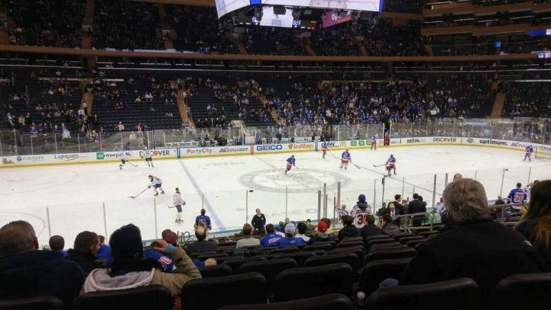Seating view for Madison Square Garden Section 116 Row 17 Seat 10