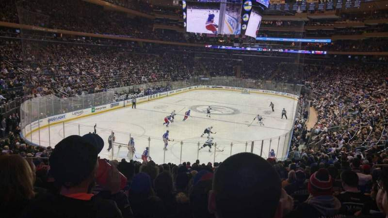 Seating view for Madison Square Garden Section 315 Row 22 Seat 12
