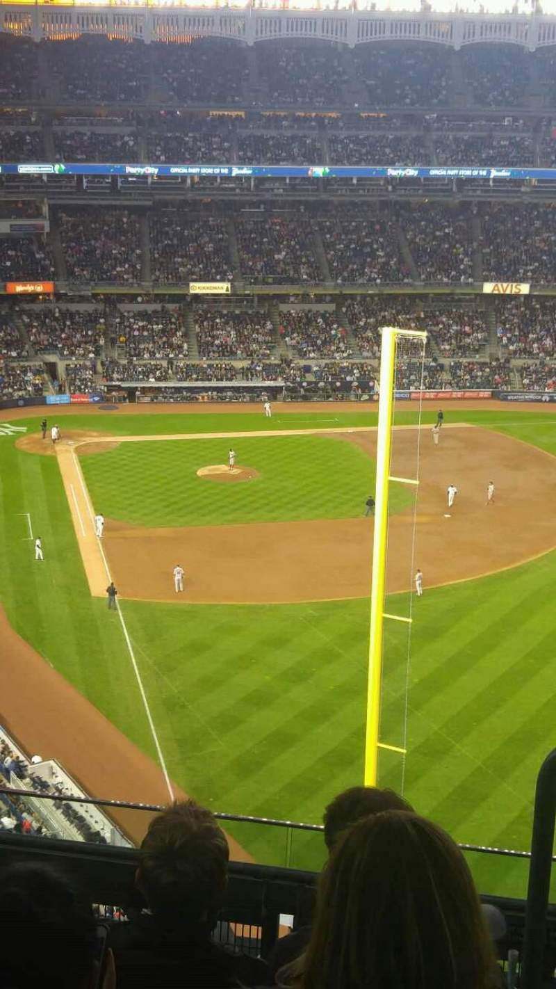 Seating view for Yankee Stadium Section 407b Row 5 Seat 1