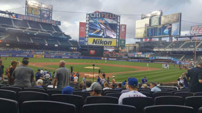 Seating view for Citi Field Section 15 Row 18 Seat 8