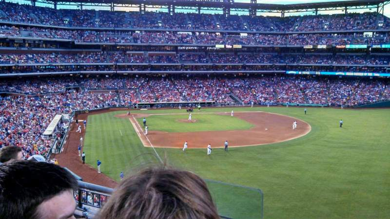 Seating view for Citizens Bank Park Section 206 Row 4 Seat 18