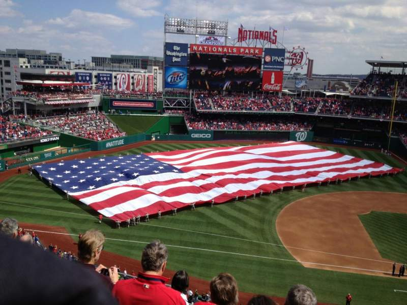 Seating view for Nationals Park Section 307 Row F Seat 22
