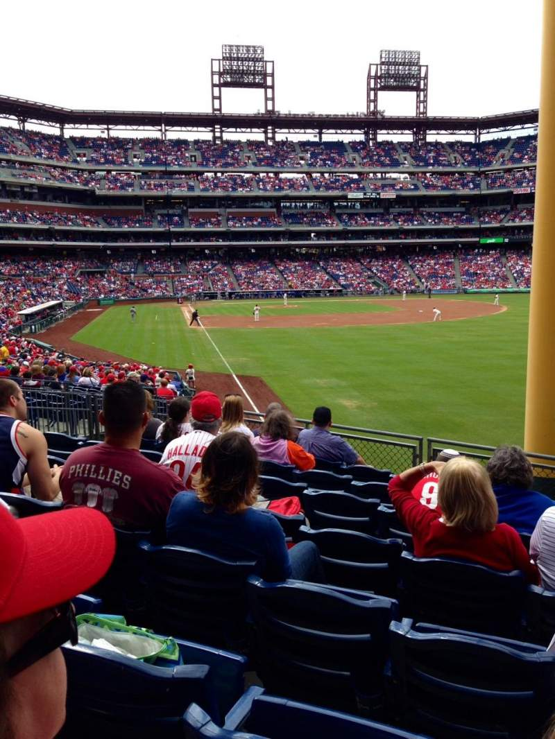 Seating view for Citizens bank Park Section 107 Row 11  Seat 10