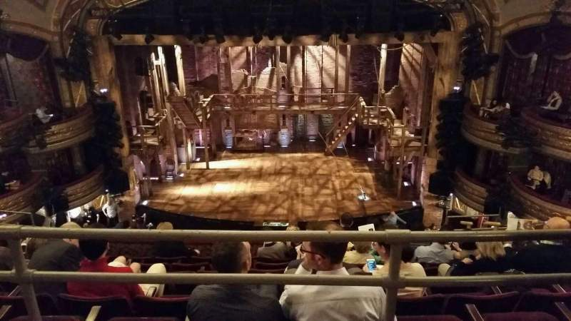 Seating view for Richard Rodgers Theatre Section Rear mezzanine Row A Seat 105
