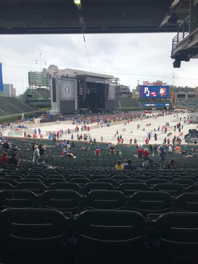 Seating view for Wrigley Field Section 206 Row 15 Seat 11