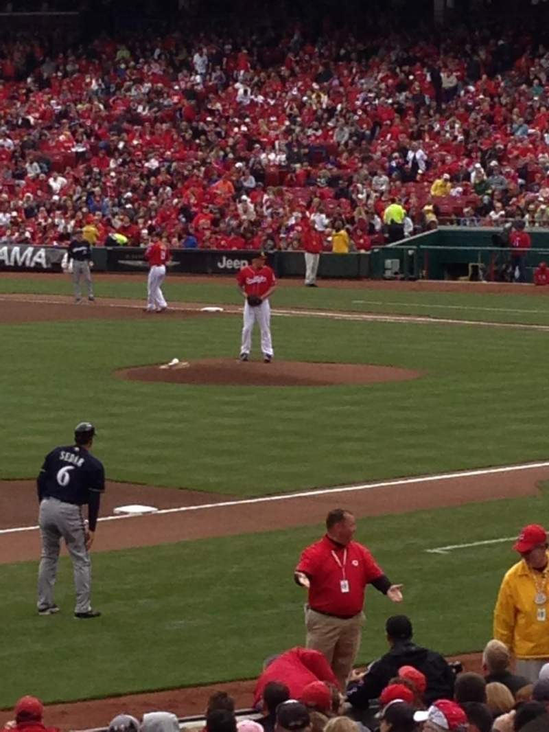 Seating view for Great American Ball Park Section 113 Row YY Seat 13