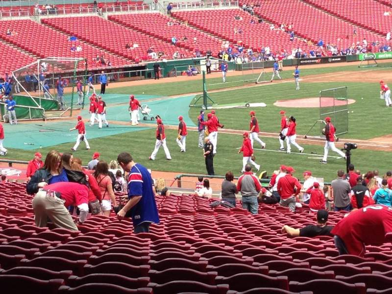 Seating view for Great American Ball Park Section 133 Row MM Seat 18
