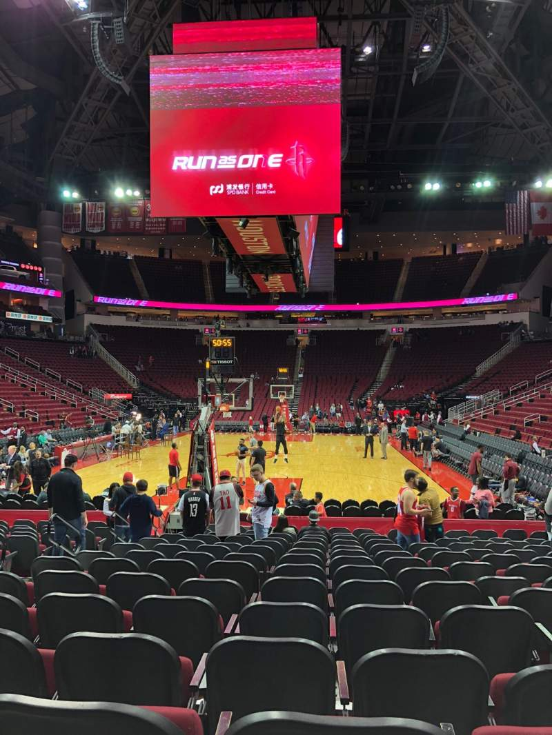 Seating view for Toyota Center Section 113 Row 6 Seat 8