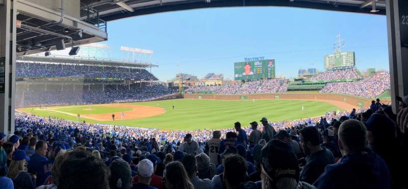 Seating view for Wrigley Field Section 229 Row 12 Seat 15