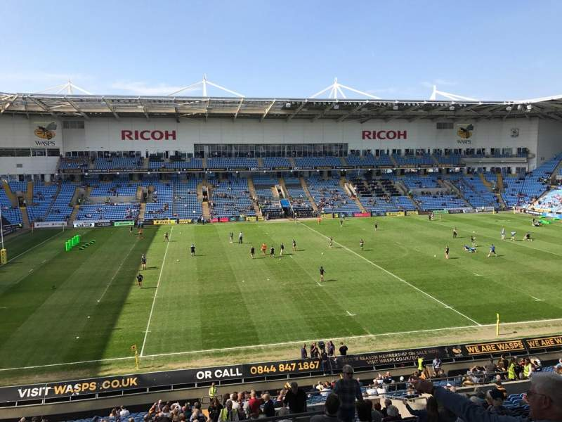 Seating view for Ricoh Arena Section 18 Row NN Seat 1