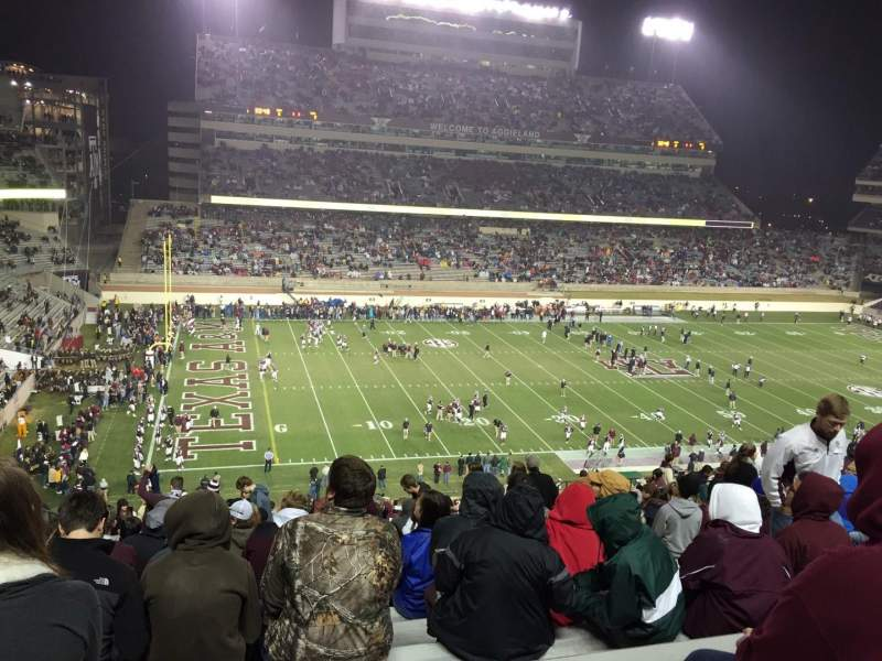 Seating view for Kyle Field Section 238 Row 28 Seat 12