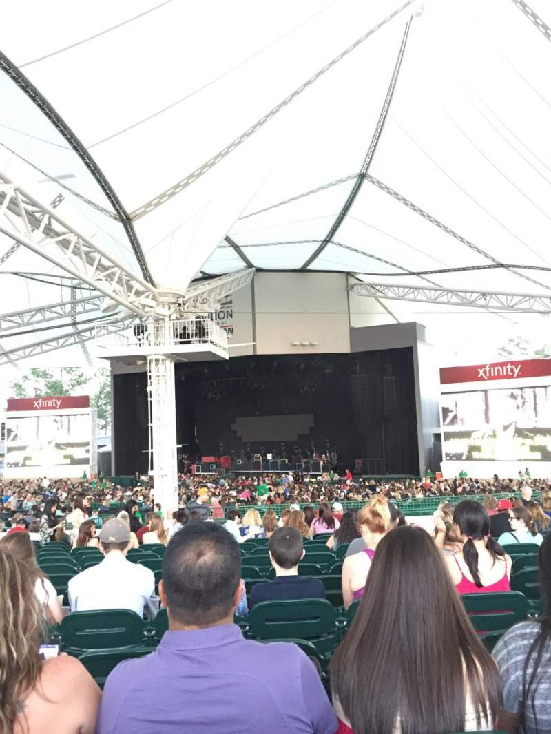 Seating view for Cynthia Woods Mitchell Pavilion Section 109 Row Q Seat 13