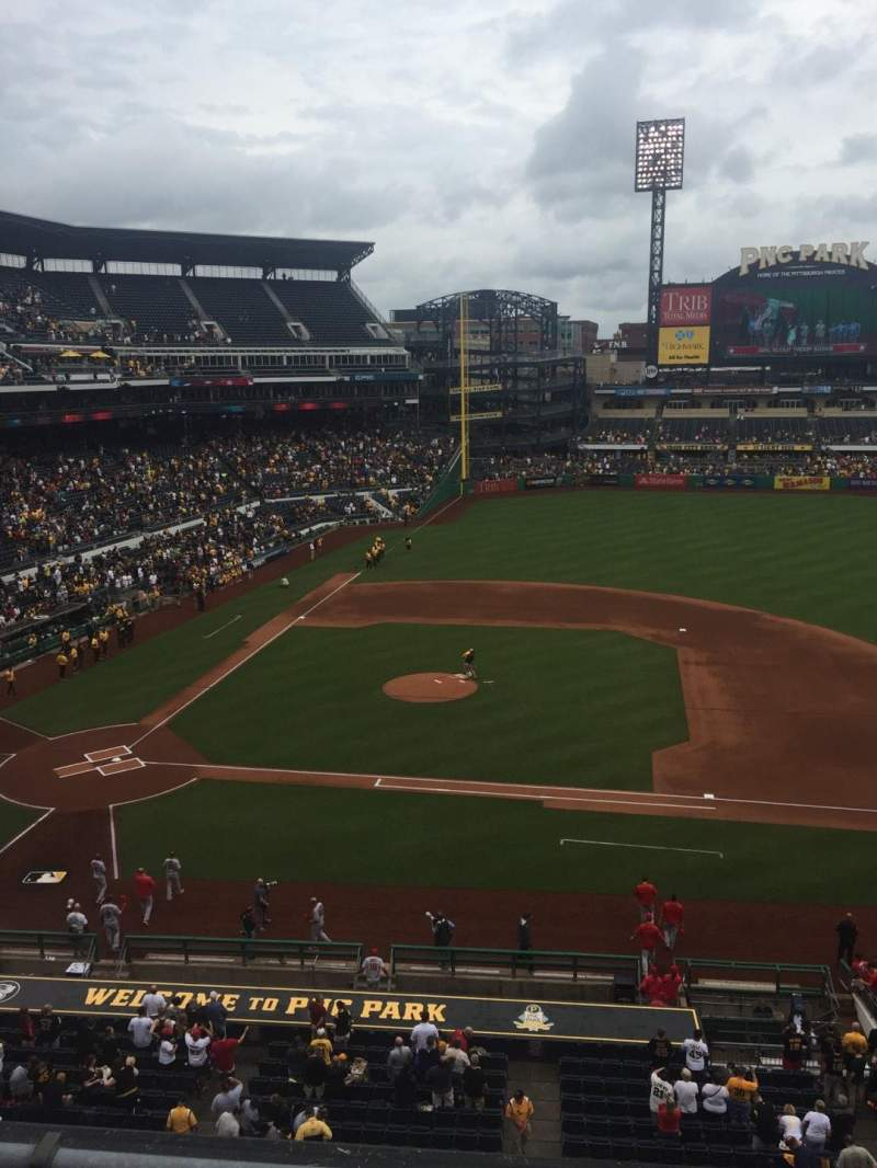Seating view for PNC Park Section 210 Row B Seat 4