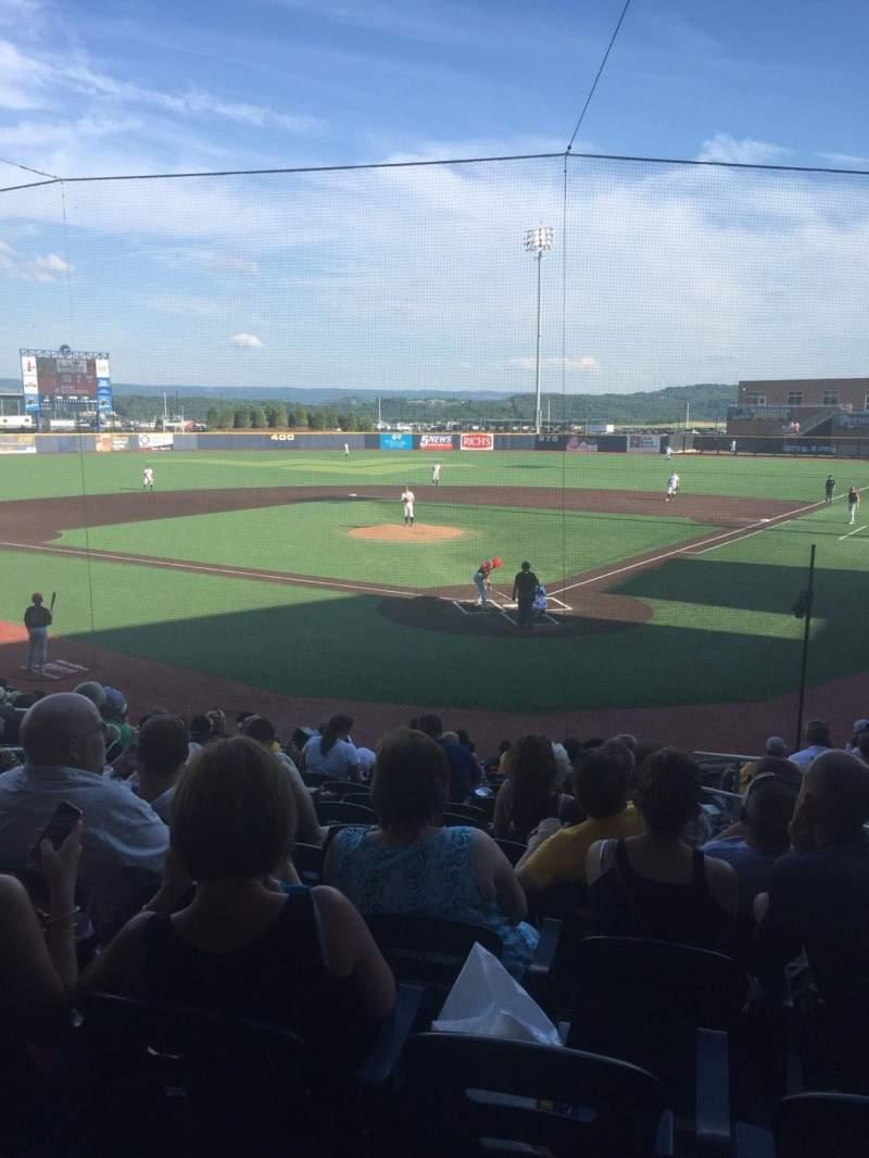 Seating view for Monongalia County Ballpark Section 104 Row O Seat 18